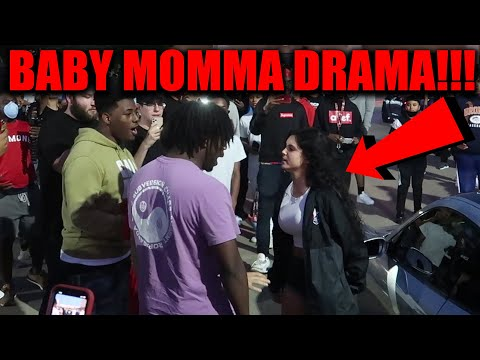 BABY MOMMA DRAMA TURNS INTO POLICE CHASE AT CAR MEET!!! ( SHE EMBARRASSES HIM )