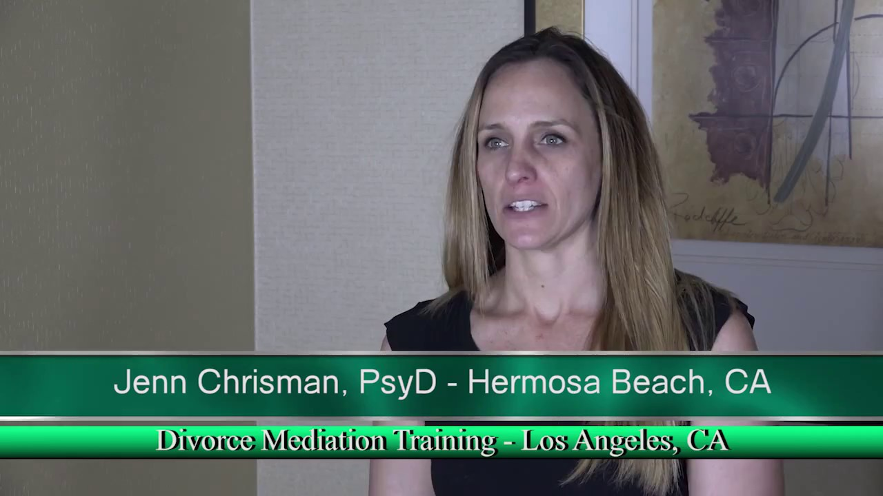 Divorce Mediation Training Testimonial: Los Angeles, California