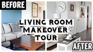 LIVING ROOM MAKEOVER/TOUR