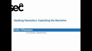 NorthSec 2019 – Kelly Villanueva – Hacking Heuristics
