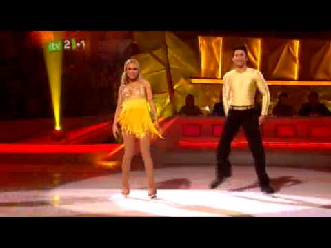 The Saturdays on Dancing On Ice Melinda Messenger Dancing to Up
