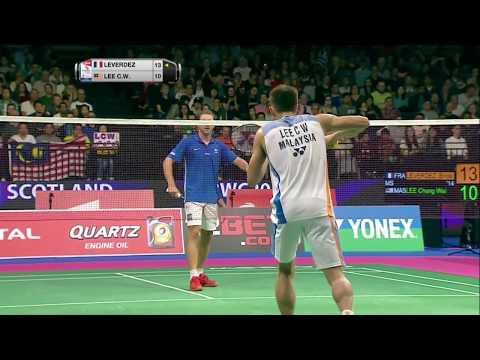 TOTAL BWF World Championships 2017 | Badminton Day 2 M3-MS | Brice Leverdez vs Lee Chong Wei