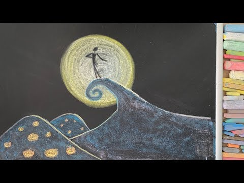 Nightmare Before Christmas ♫ Chalk Art Lullaby For Babies (Sally's Song)