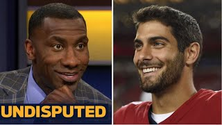 "UNDISPUTED | Shannon react to Patriots trade for Jimmy Garoppolo ""not off the table"""