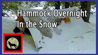 Backpack Hammock Overnight In The Snow with the Hilleberg Tarp 20 -Denny Creek Washington