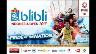 (Live)R.Eka PUTRI SARI/M.Cindy SAHPUTRI vs Dian FITRIANI/ Nadya MELAT - Indonesia Open 2018
