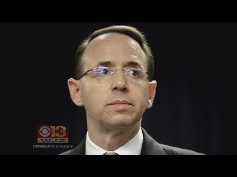 Trump 'Irritated' To Learn Rod Rosenstein Was From Baltimore