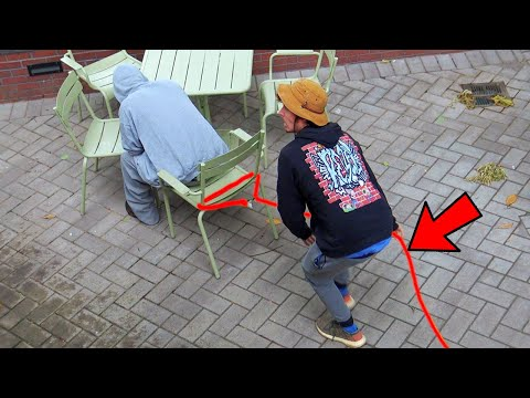 Chair Pulling Rope Prank