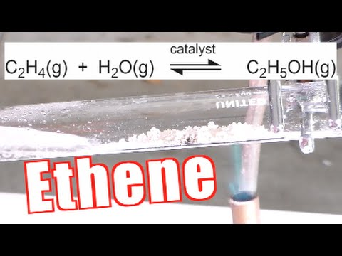 How to Make Ethene (Ethylene) - Catalytic Dehydration of Ethanol