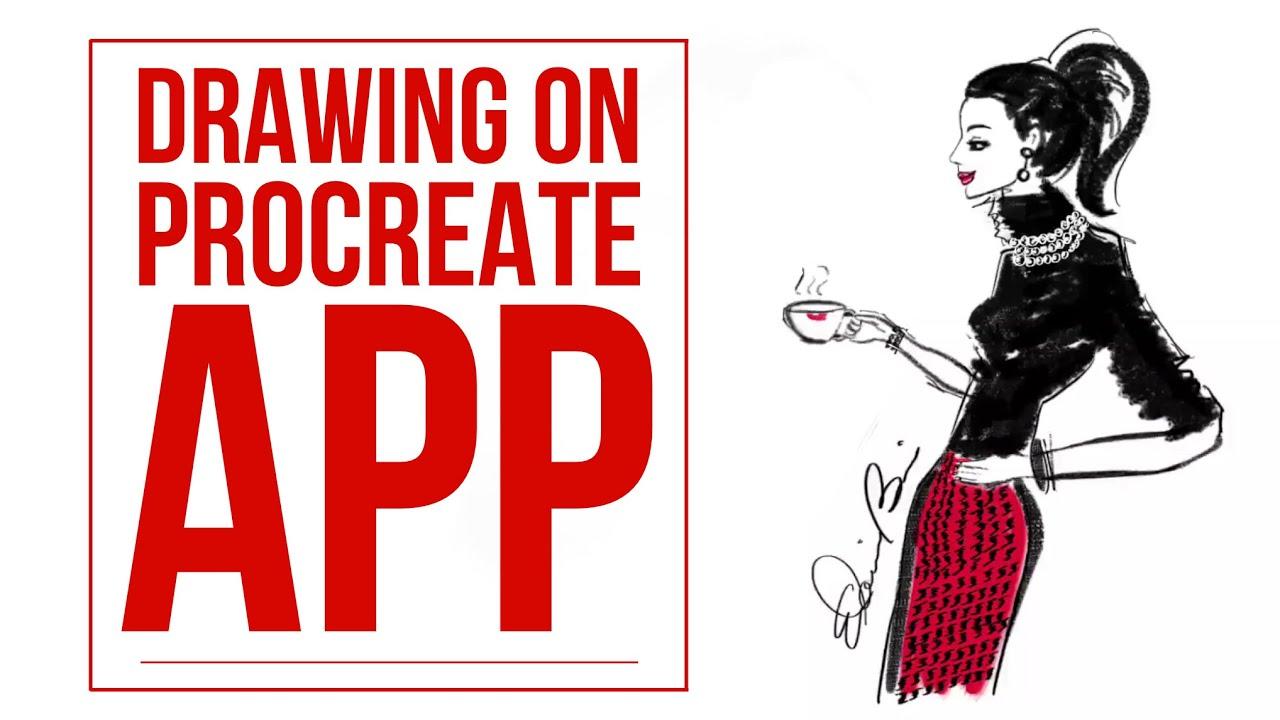 How to Draw a Fashion Illustrator Figure Profile Pose on Procreate App