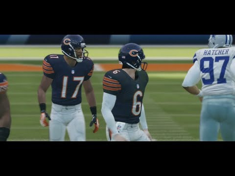 Brian Urlacher Gets Benched to Spark Bears Rally - Madden 13 Online Gameplay (Cowboys vs Bears)