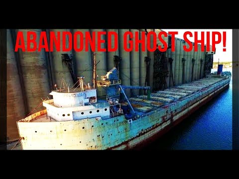 ABANDONED GHOST SHIP!  (Exploring via DRONE, 300FT TALL SILOS!)