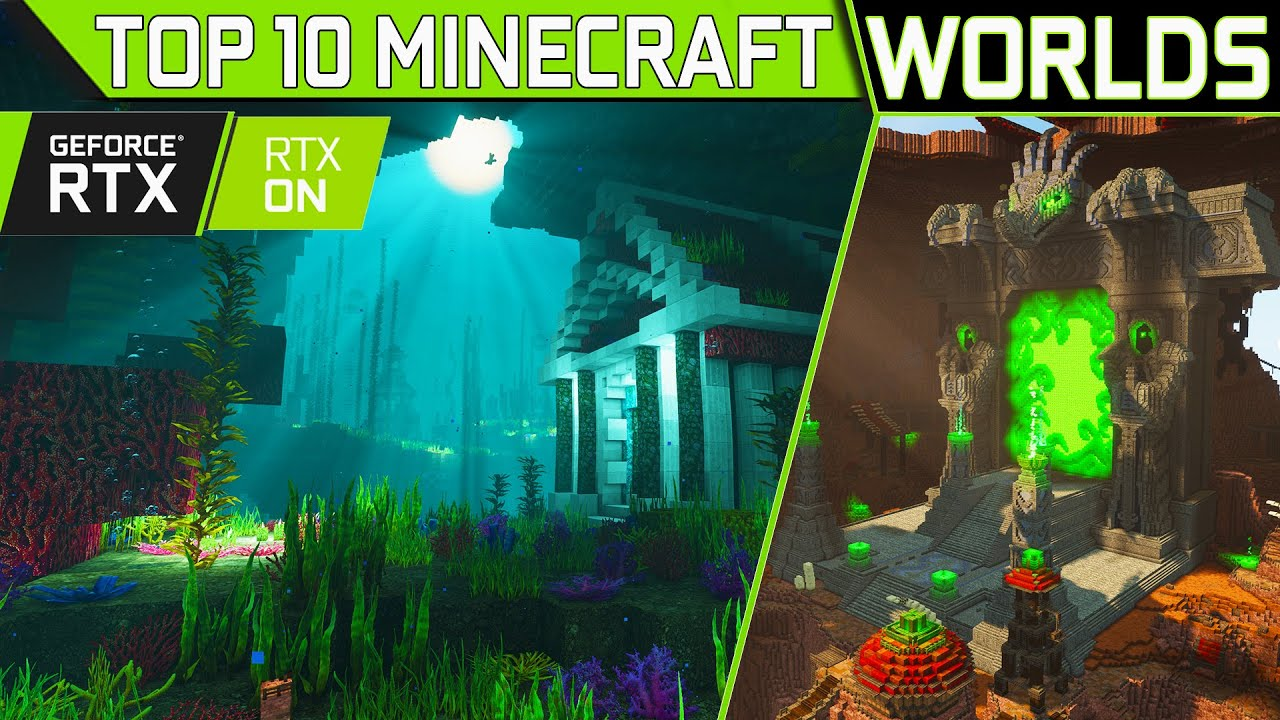 RTX 3090 Destroyed With My TOP 10 Most EPIC Minecraft Worlds!