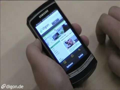 Samsung I8910 HD video demo