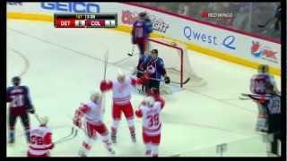 jan mursak first nhl goal vs avs detroit red wings