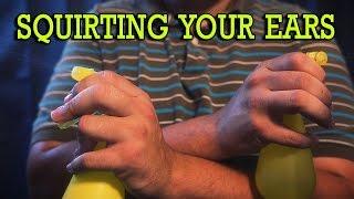 ASMR - (4K) Squirting Your Ears + Scalp Massage   Hushtone ASMR