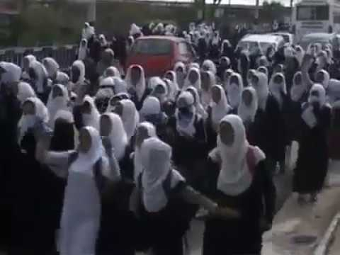 Students in Ganderbal hit Streets to protest against Indian rule in Kashmir.