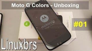 Moto G Motorola Dual Colors XT1033 - Unboxing - PT-BR - Brasil