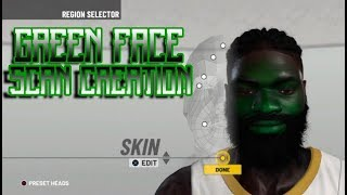 HOW TO GET GREEN FACE SCAN ON NBA 2K19