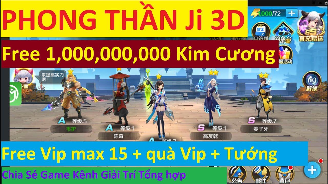 Game Lậu Mobile 2020 Phong Thần Ji 3D Free 999.999.999 KNB + FuLL Vip 15 + Quà Tướng SSS | KGTTH