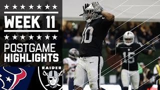 Texans vs. Raiders   NFL International Week 11 Game Highlights