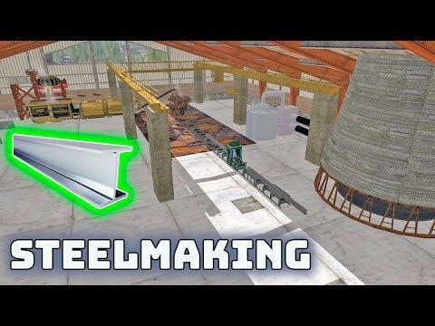Steelmaking, testing steel production in Farming Simulator 2017 - LS17 FS 2017 Mods