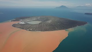 Anak Krakatau Volcano Incredible Drone Footage After Collapse & Major Eruption