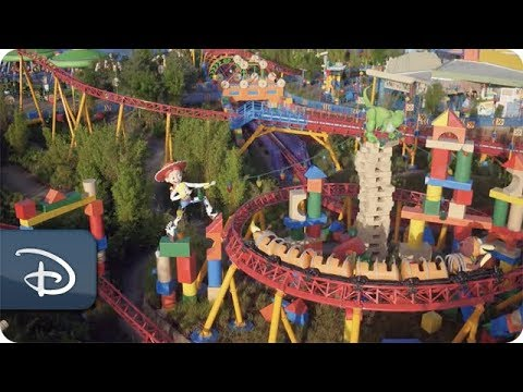 Birds-Eye View Of Slinky Dog Dash | Toy Story Land
