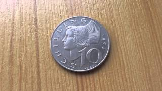 Austria old money coin - 10 Schilling from 1993