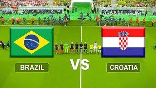 Brazil vs Croatia | International Friendlies | PES 2018 PC Gameplay