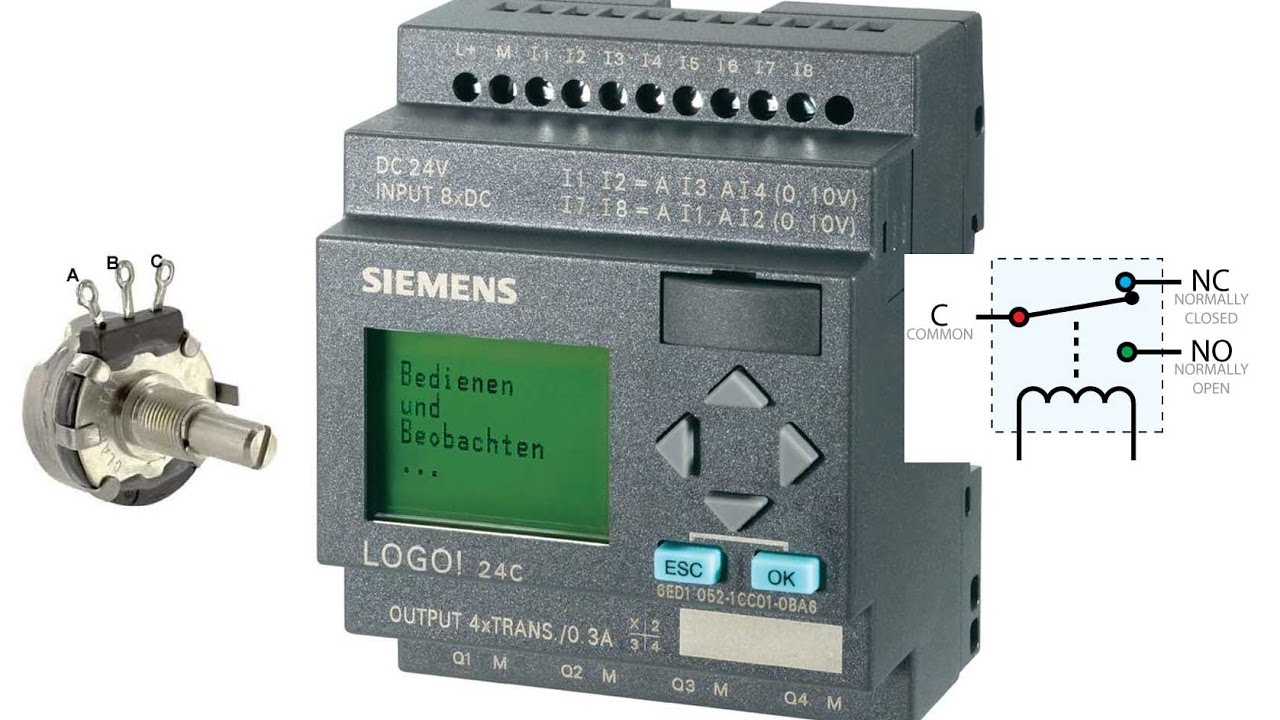 Siemens Logo Plc Analogue Threshold Trigger Tutorial 14 Youtube Latched Circuit Example