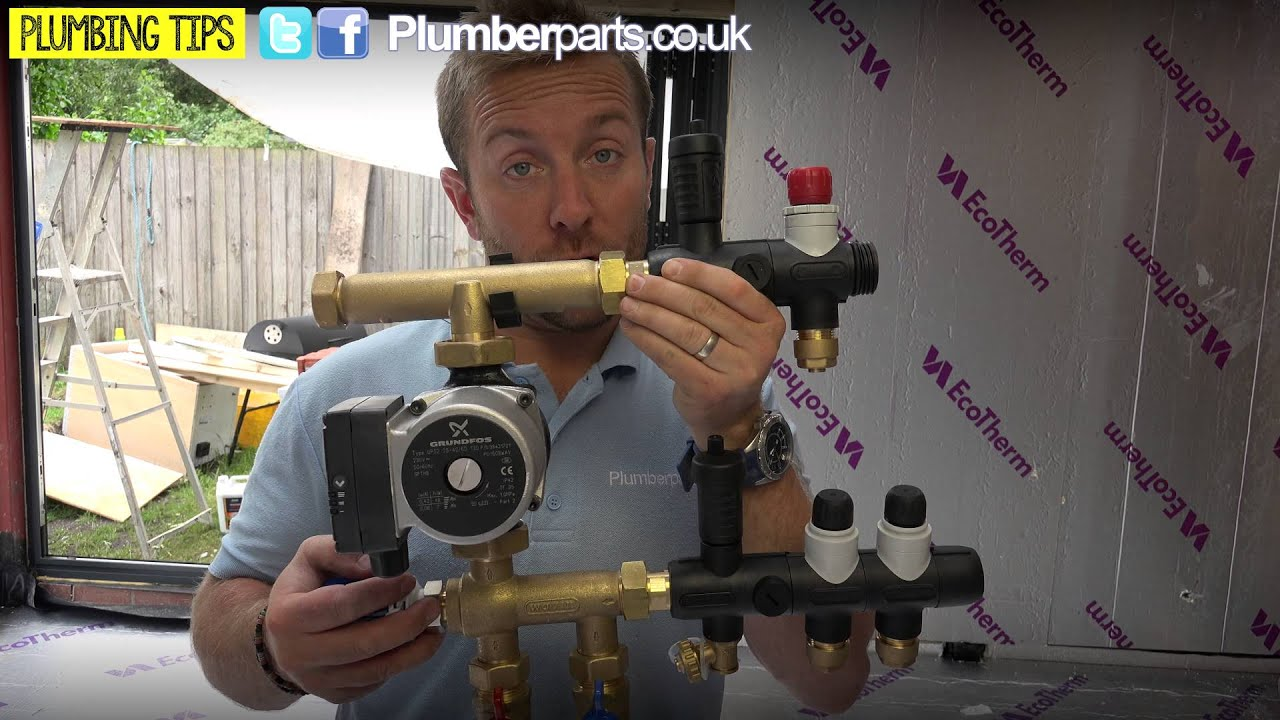 one way switch wiring diagram uk dimmer australia underfloor heating guide and install part 1 plumbing tips youtube
