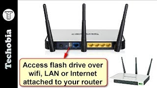 Access Flash Drive via WiFi, LAN or Internet attached to your router | Tp-Link | Huawei | Static IP