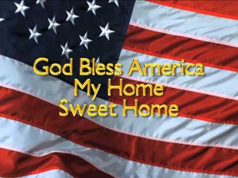 God bless America w/ lyrics no vocals