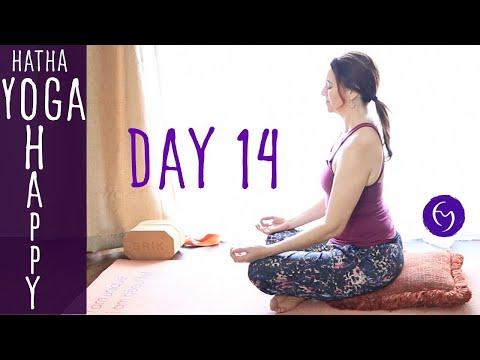 Day 14 Hatha Yoga Happiness: Gentle Yoga with Breathing Practice
