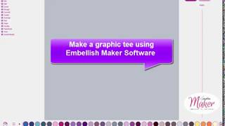 Embellish Maker Make a Graphic Tee with SVG Files and  TTF