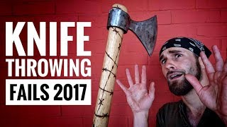 FUNNY/SCARY Fails Compilation 2017 (Knife Throwing Gone Wrong) *BLOOPERS*