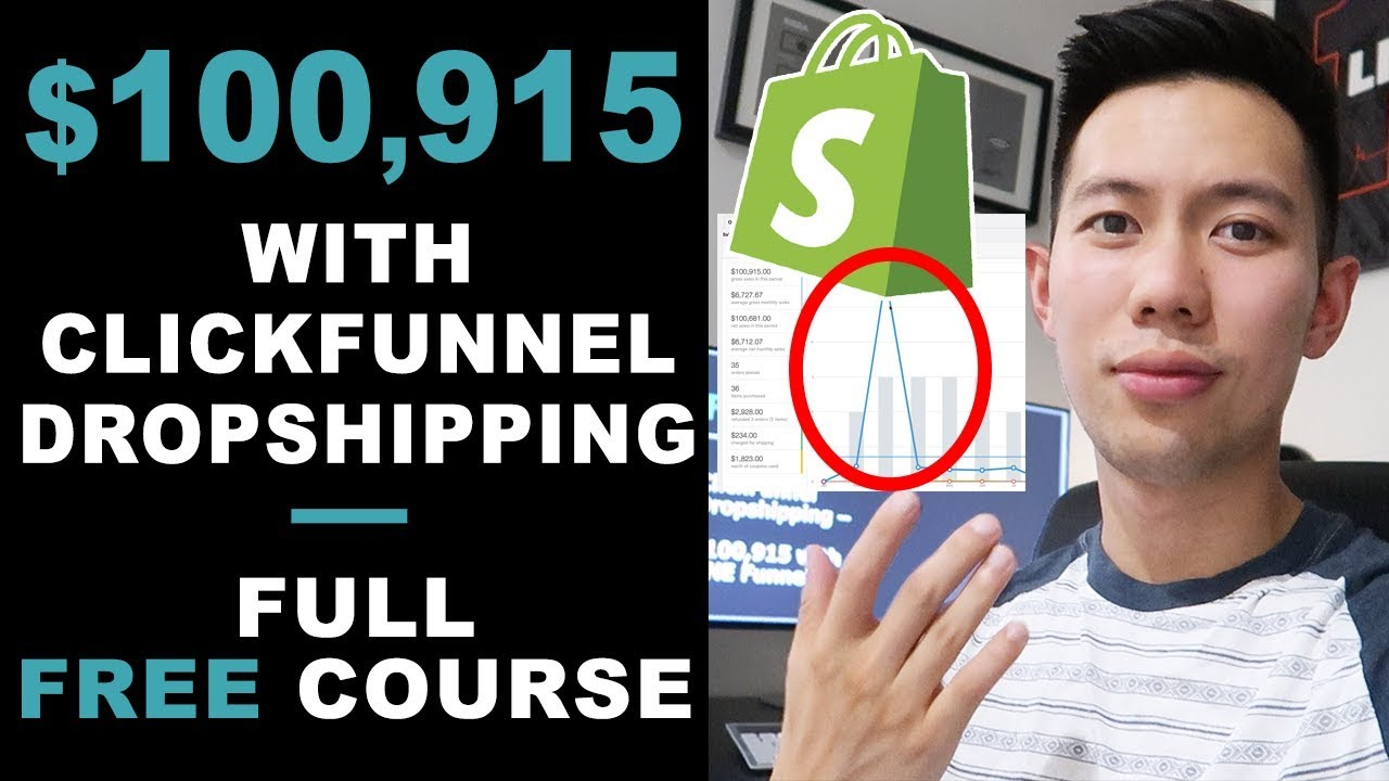 [FREE COURSE] ClickFunnel Dropshipping in 2019 | $100,915 in ONE Funnel – Dropship Through Funnels