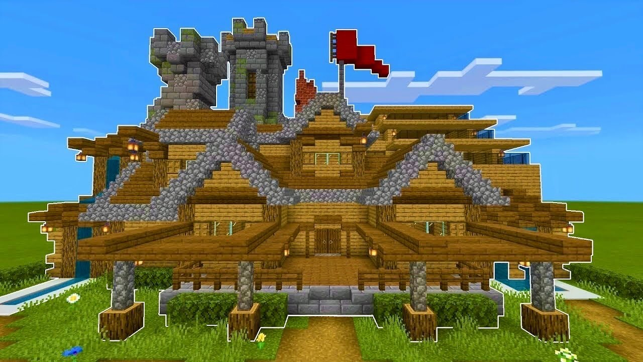 Minecraft How To Build A Survival Mansion Tutorial 80 Youtube
