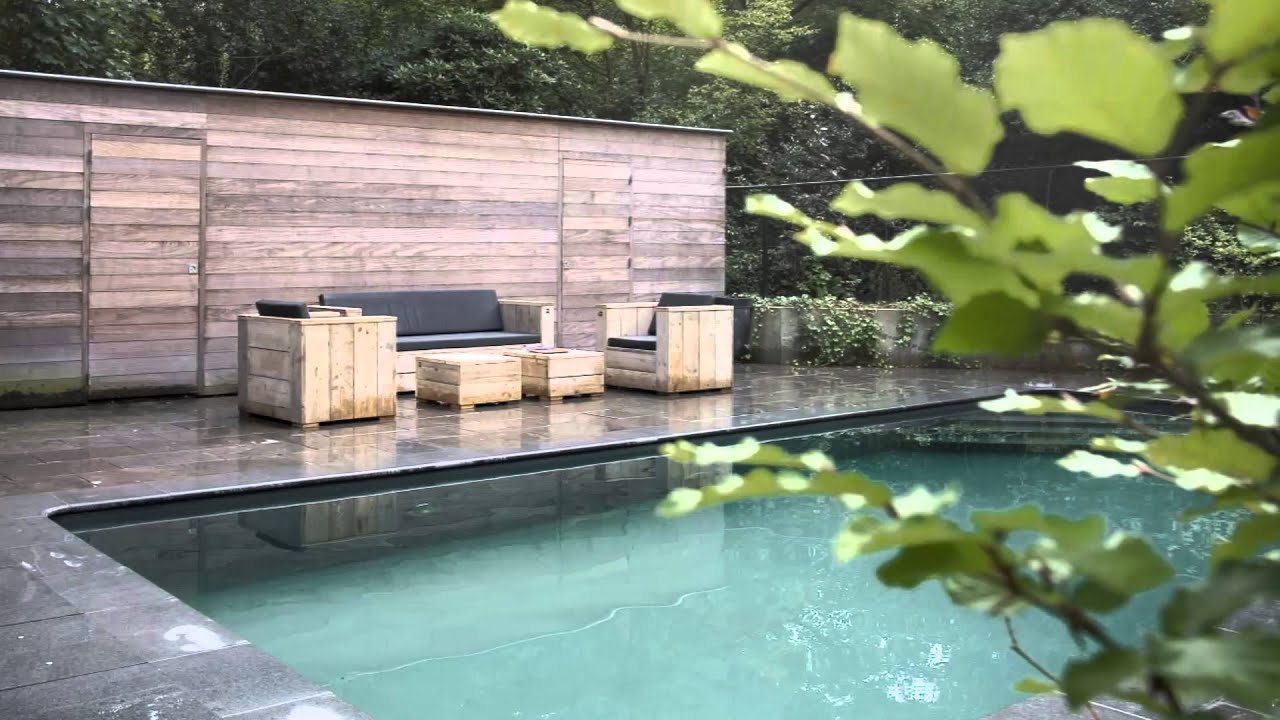 Buitenbaden aangelegd door van gemert zwembaden & saunas youtube