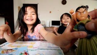 2015年5月13日/Y:3歳6ヶ月/R:5歳11ヶ月/ They play an origami set(ana ...