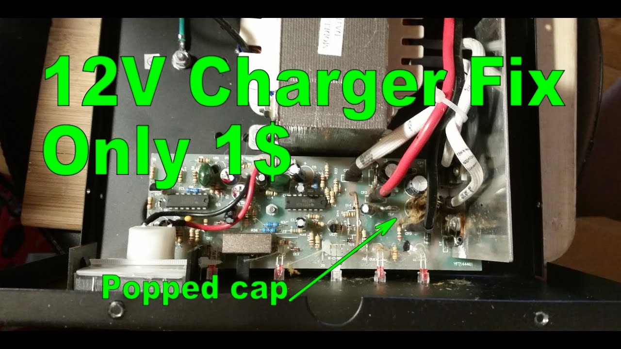 12v 2a 10a Battery Charger Repair Youtube Trickle Wiring Diagram