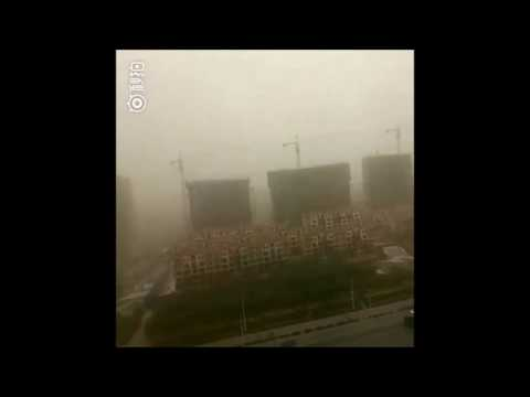 Dust Storm Shrouds Northern China