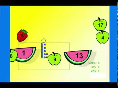 Learn Place Value - Easy Level - Fruit Splat Math Game