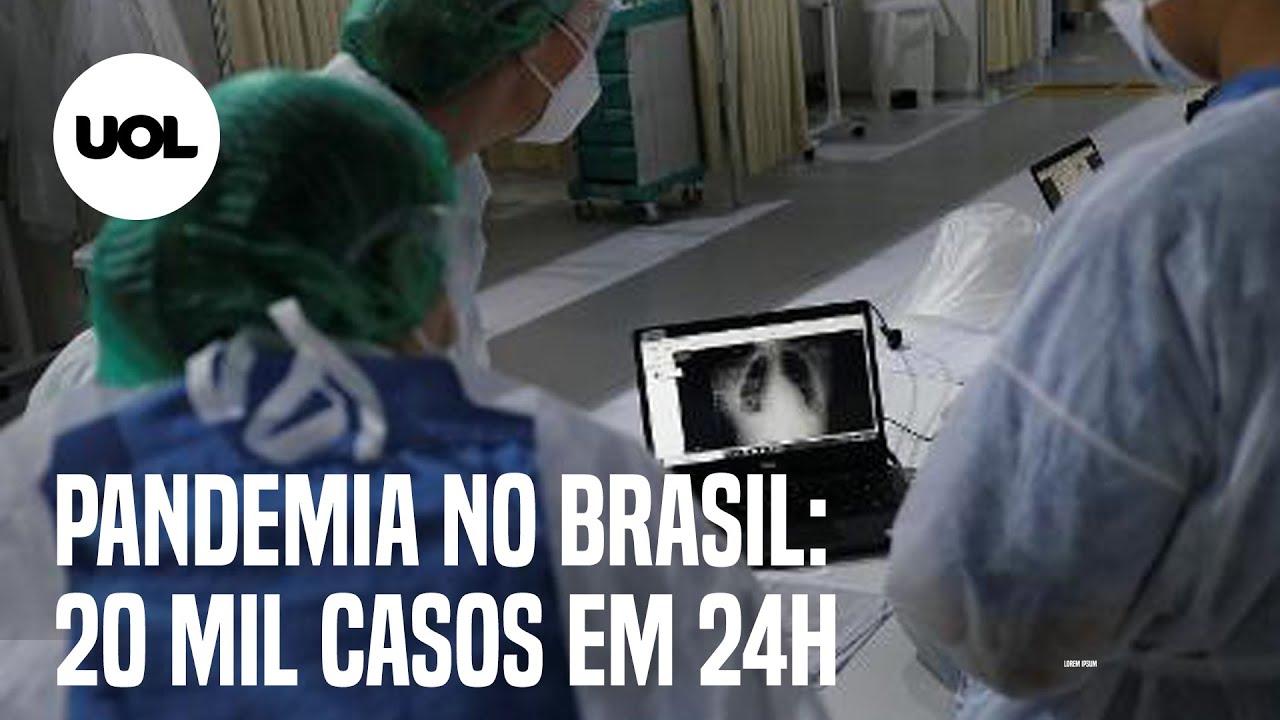Brasil tem 543 novos óbitos por covid-19 nas últimas 24h; país tem 196.561 mortes