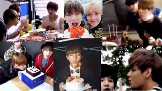 My favorite TAEHYUNG (V BTS) moments - When TAE TAE blow candle