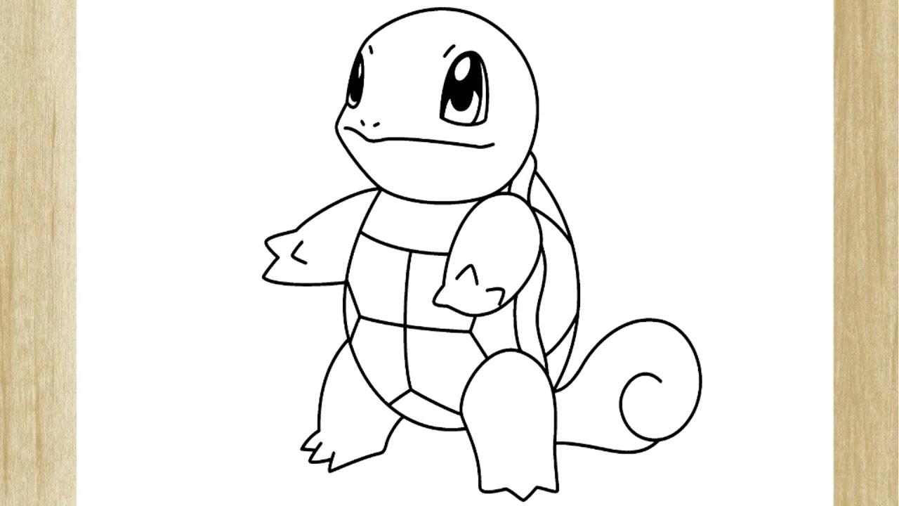 Como Desenhar O Pokemon Squirtle How To Draw Squirtle Pokemon