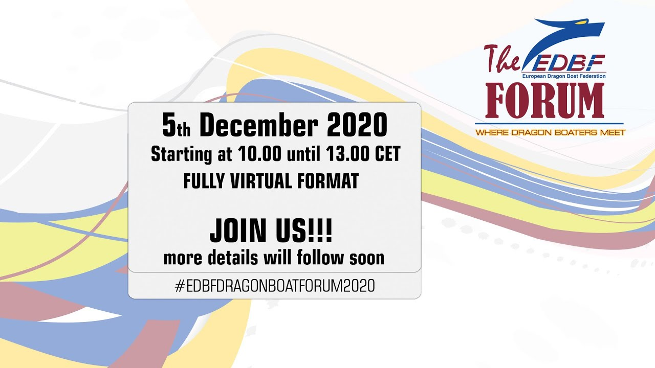 EDBF FORUM - Sat 5 December 2020