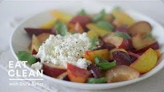 Beet-Plum and Fresh Ricotta Salad - Eat Clean with Shira Bocar