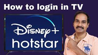How to login hotstar in TV